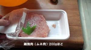 鶏の挽肉200gほど